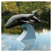 Gray Whale and Calf - Bronze Sculpture